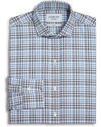 Ledbury   Multi Check Slim Fit Button-down Dress Shirt   Lyst