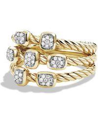 David Yurman | Confetti Ring With Diamonds In Gold | Lyst
