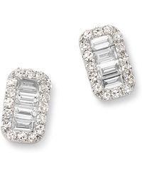 KC Designs - 14k White Gold Mosaic Diamond Stud Earrings - Lyst