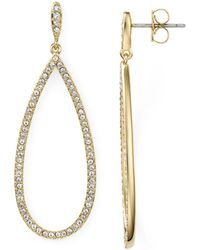 Nadri - Pavé Gold Plated Teardrop Earrings - Lyst