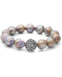 Stephen Dweck - Champagne Baroque Natural Freshwater Pearl Stretch Bracelet - Lyst