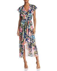 Eliza J - Floral Faux-wrap Dress - Lyst