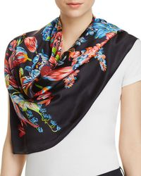 Echo - Adelaide Floral Silk Square Scarf - Lyst