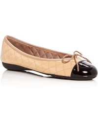 Paul Mayer - Women's Best Quilted Leather Cap Toe Ballet Flats - Lyst
