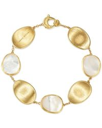 Marco Bicego - 18k Yellow Gold Lunaria Mother-of-pearl Bracelet - Lyst