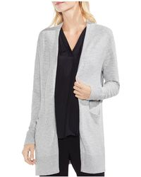 Vince Camuto - Ribbed Open Cardigan - Lyst