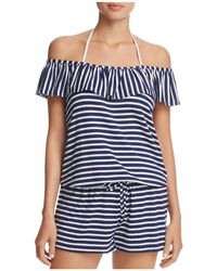 Splendid - Stripe Covers Romper Swim Cover-up - Lyst