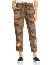 Johnny Was - Vella Camo-print Cropped Linen Trousers - Lyst