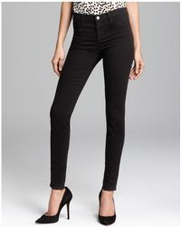 J Brand - Jeans - Luxe Sateen 485 Super Skinny In Black - Lyst