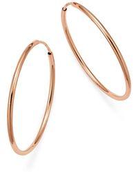 Bloomingdale's - 14k Rose Gold Endless Hoop Earrings - Lyst