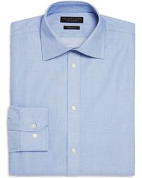 Bloomingdale's - Textured Micro Check Regular Fit Dress Shirt - Lyst