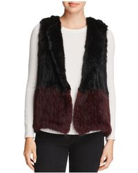 525 America - Two-tone Real Rabbit Fur Vest - Lyst