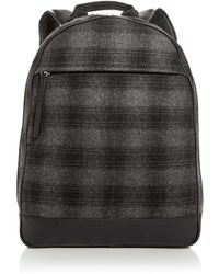 Bloomingdale's - Plaid Wool Backpack - Lyst