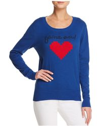 Aqua - Game On Embroidered Sweater - Lyst