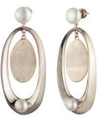 Carolee - Large Sculptural Cultured Freshwater Pearl Drop Earrings - Lyst