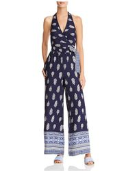 Band Of Gypsies - Bandana Wide-leg Jumpsuit - Lyst
