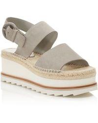 Marc Fisher - Women's Greely Suede Espadrille Wedge Platform Sandals - Lyst