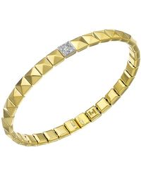 Chimento - 18k Yellow & White Gold Armillas Pyramis Collection Square Link Bracelet With Diamonds - Lyst