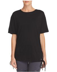 Alo Yoga - Bliss Lace-up Tee - Lyst