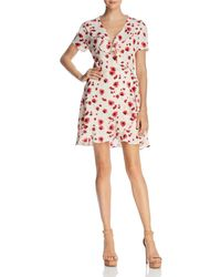Lucy Paris - Poppy Floral Print Wrap Dress - Lyst