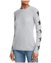Aqua - Star-sleeve Cashmere Sweater - Lyst