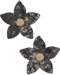 BaubleBar - Adelissa Resin Floral Drop Earrings - Lyst