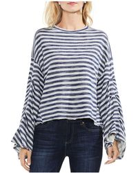 Vince Camuto - Striped Bell-sleeve Jumper - Lyst