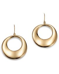 Bloomingdale's - Round Drop Earrings In 14k Yellow Gold - Lyst