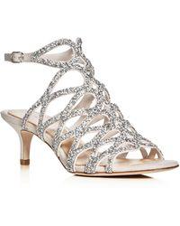 Imagine Vince Camuto - Kami Crystal Embellished Caged Low Heel Sandals - Lyst