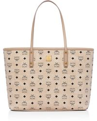 MCM - Anya Logo Zip Medium Shopper Tote - Lyst