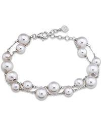 Majorica - Simulated Pearl Beaded Bracelet - Lyst