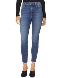 Sanctuary - Social High Rise Frayed Ankle Skinny Jeans - Lyst
