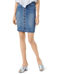 543147d339 Joe s Jeans - High-rise Denim Pencil Skirt In Kerrigan - Lyst