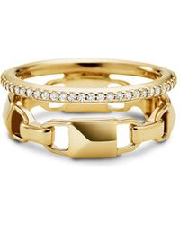 Michael Kors - Pavé Link Stacked Ring - Lyst