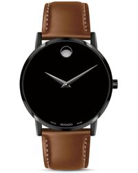 Movado Museum Classic Brown Leather Strap Watch