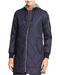 Vince Camuto - Long Quilted Bomber Jacket - Lyst