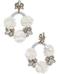 BaubleBar - Ice Lily Loop Drop Earrings - Lyst