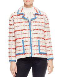 Sandro - Idaline Tweed Check Jacket - Lyst