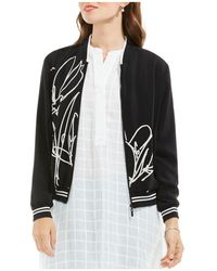 Vince Camuto - Abstract Print Bomber Jacket - Lyst