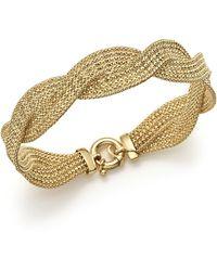 Bloomingdale's - 14k Yellow Gold Braided Mesh Bracelet - Lyst