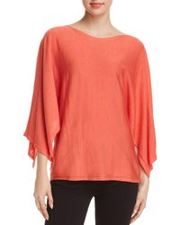 Eileen Fisher - Cape-sleeve Top - Lyst