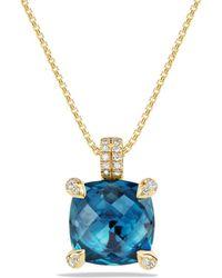 David Yurman - Châtelaine Pendant Necklace With Hampton Blue Topaz And Diamonds In 18k Gold - Lyst