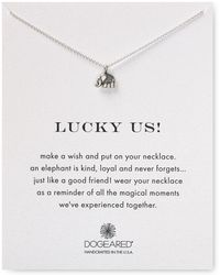 """Dogeared - Lucky Us Necklace, 16"""" - Lyst"""