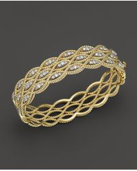 Roberto Coin - 18k Yellow And White Gold New Barocco Diamond Bangle - Lyst
