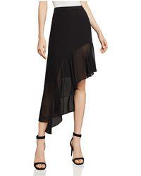BCBGMAXAZRIA - Asymmetric Ruffled Skirt - Lyst