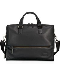 Tumi - Harrison Leather Horton Double Zip Briefcase - Lyst