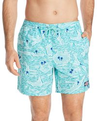 Vineyard Vines - Map Of The Islands Chappy Trunks - Lyst