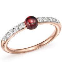 Pomellato - M'ama Non M'ama Ring With Garnet And Diamonds In 18k Rose Gold - Lyst