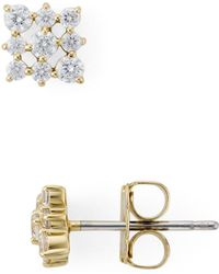 Nadri - Lattice Stud Earrings - Lyst