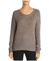 Aqua - Side-zip Sweater - Lyst